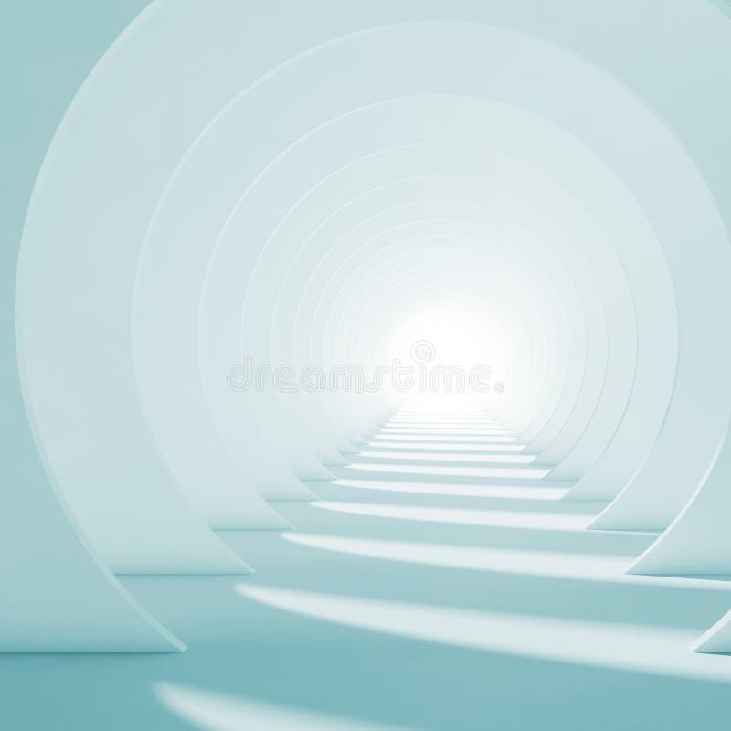 Interior abstracto del pasillo 3 mínimos d libre illustration