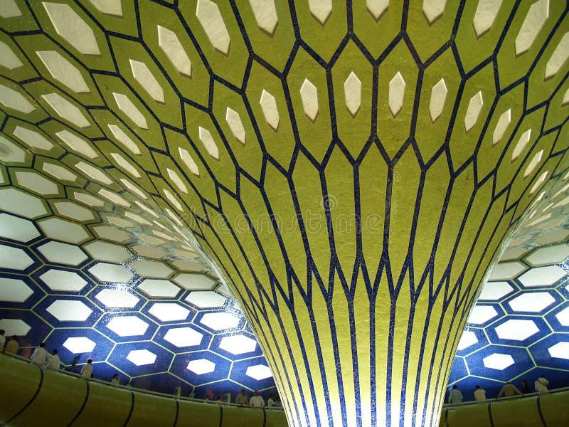 Interior abstrato árabe do edifício fotografia de stock