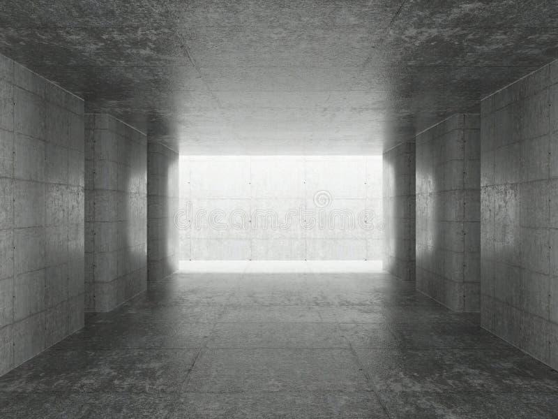 Interior abstrato da arquitetura ilustração royalty free