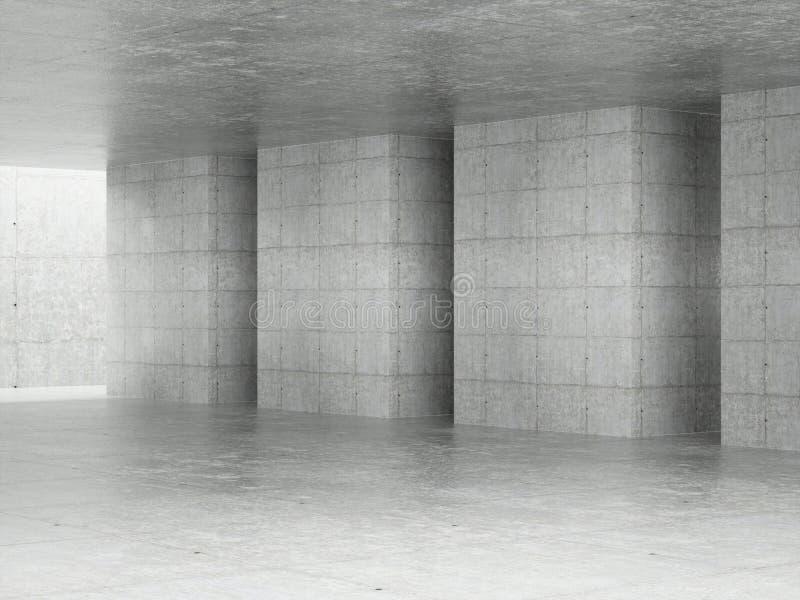 Interior abstrato da arquitetura ilustração do vetor