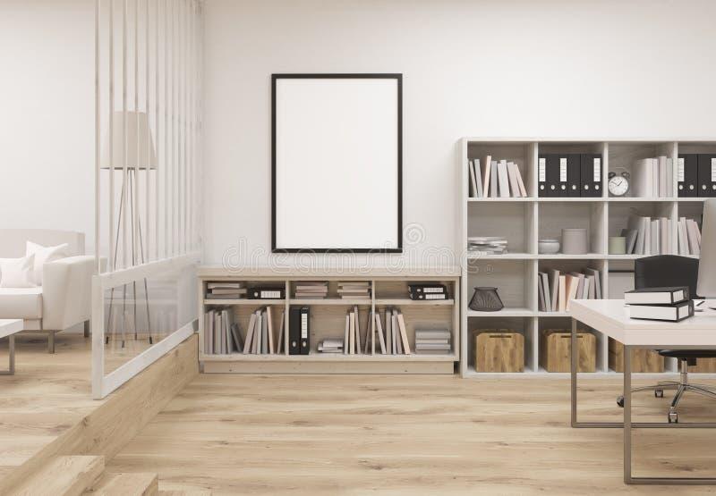 Interior acogedor creativo de la oficina ilustración del vector