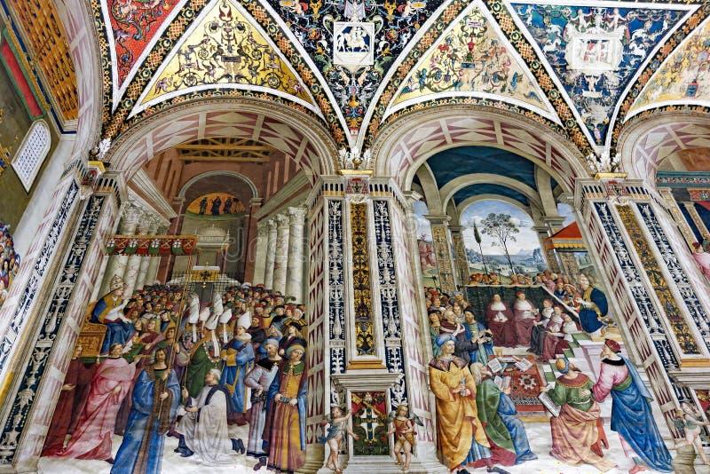 Interior adornado, Siena, catedral, Toscana, Italia imagen de archivo libre de regalías