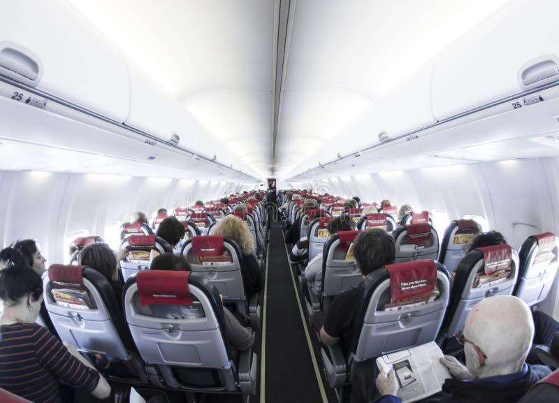 Interior of Airplane stock photos