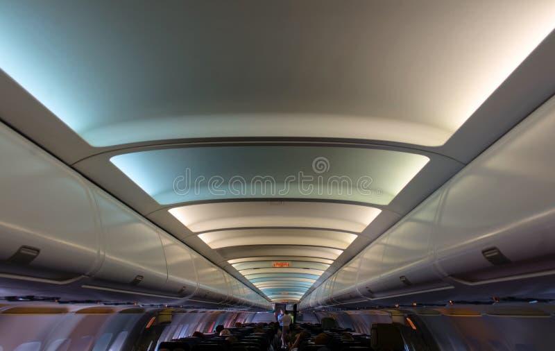 Interior airplane stock photography