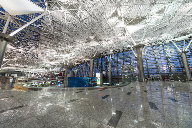 Interior of airport Vnukovo royalty free stock photo