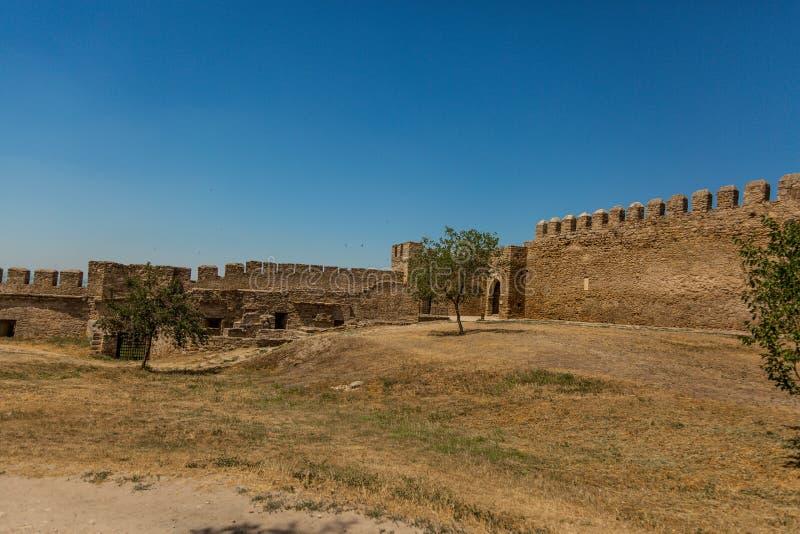 Akkerman Bilhorod-Dnistrovskyi fortress in Ukraine. Medieval castle. Interior of Akkerman Bilhorod-Dnistrovskyi fortress in Ukraine. Medieval castle royalty free stock photography