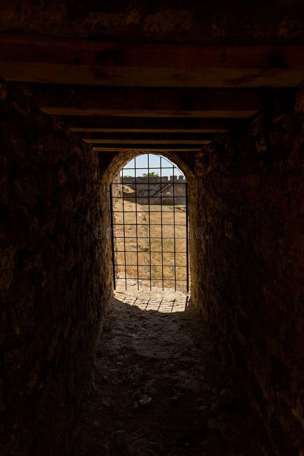 Akkerman Bilhorod-Dnistrovskyi fortress in Ukraine. Medieval castle. Interior of Akkerman Bilhorod-Dnistrovskyi fortress in Ukraine. Medieval castle royalty free stock photo