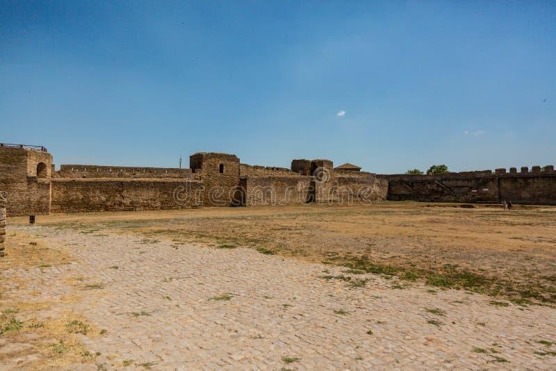 Akkerman Bilhorod-Dnistrovskyi fortress in Ukraine. Medieval castle. Interior of Akkerman Bilhorod-Dnistrovskyi fortress in Ukraine. Medieval castle stock photography