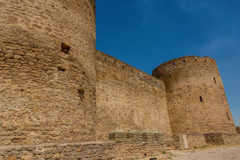 Akkerman Bilhorod-Dnistrovskyi fortress in Ukraine. Medieval castle. Interior of Akkerman Bilhorod-Dnistrovskyi fortress in Ukraine. Medieval castle stock images