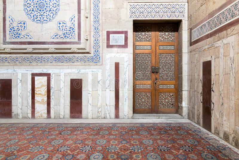 Interior of Al Rifaii Mosque Royal Mosque royalty free stock photography