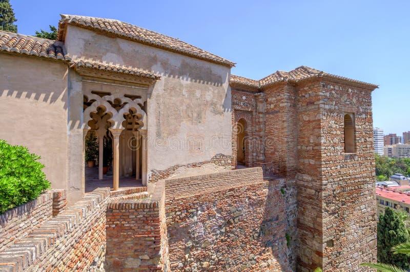 Interior of the Alcazaba of Malaga, Spain royalty free stock photography