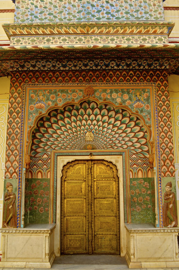 Interior of Amber fort stock photos