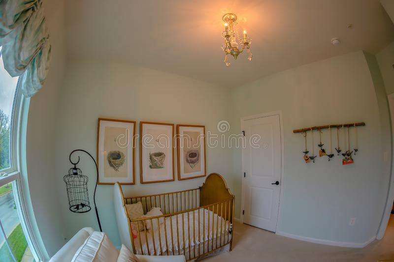 Interior of American Homes in Maryland, USA. MARYLAND, USA - SEPTEMBER 10, 2018: Interior of American Homes in Maryland. The child`s room royalty free stock photography