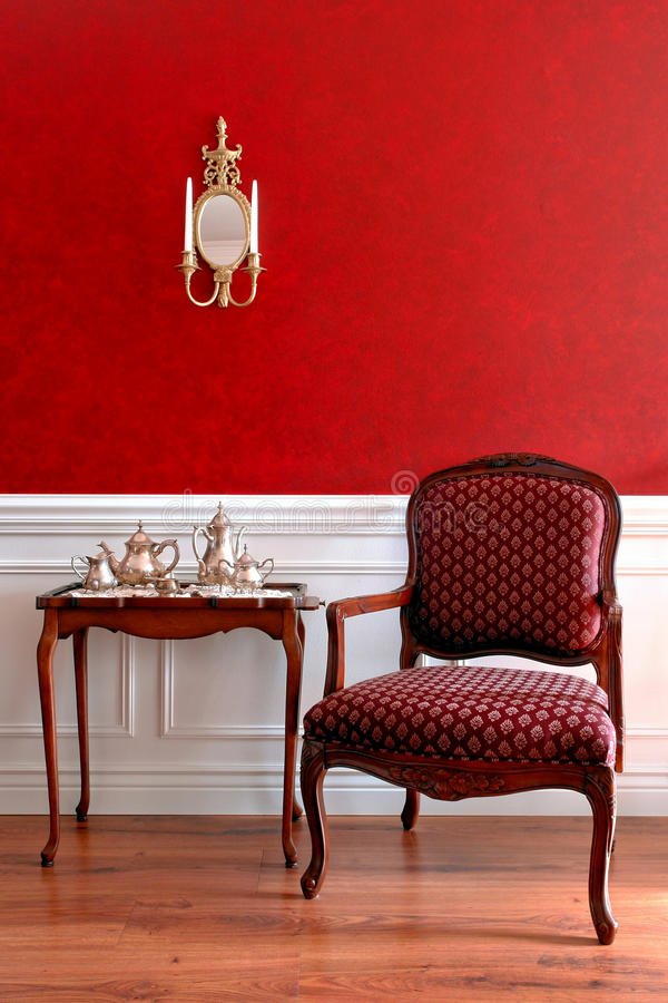 Interior americano colonial da casa do estilo fotografia de stock