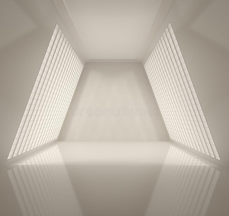 Interior ancho vacío ilustración del vector