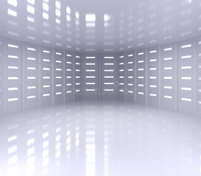 Interior ancho vacío stock de ilustración