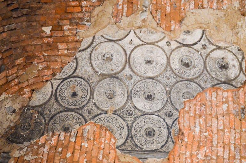 Interior of ancient temple in Bagan, Myanmar stock photos