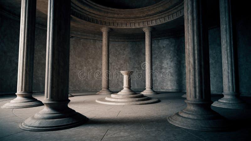 Interior antiguo ilustración del vector
