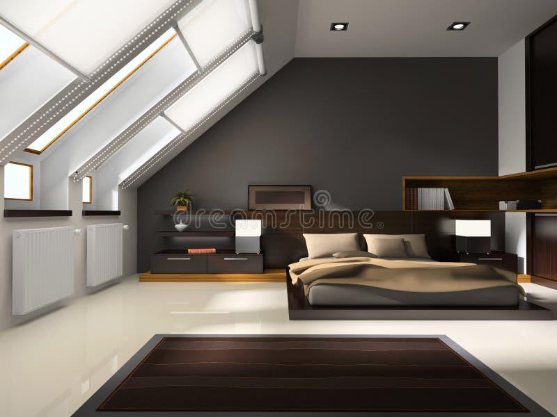 Interior aos quartos ilustração stock