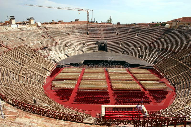 Download Interior Of The Arena In Verona, Italy Stock Image - Image: 15926735