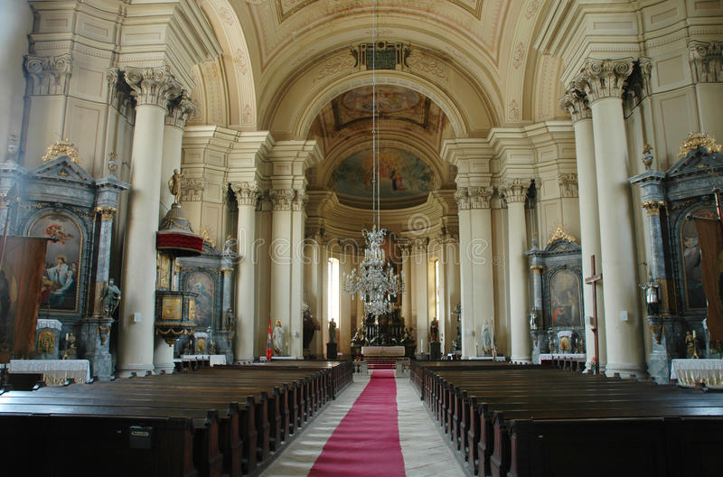 Interior arménio de Gherla, Romania da igreja fotografia de stock royalty free