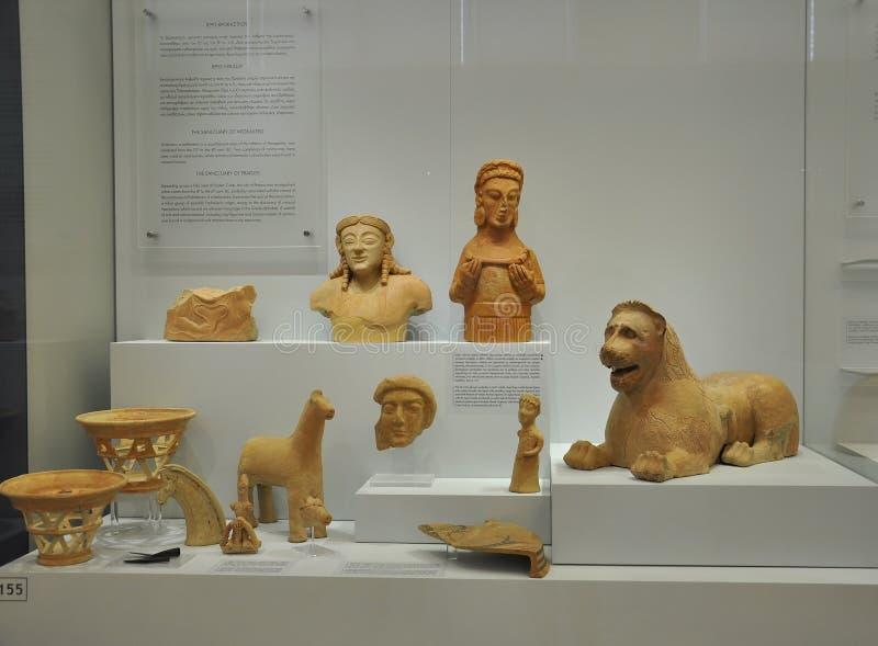 Interior arqueológico del museo de Minoan de Heraklion en la isla de Creta imágenes de archivo libres de regalías