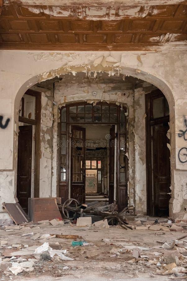 Interior arruinado imagens de stock royalty free