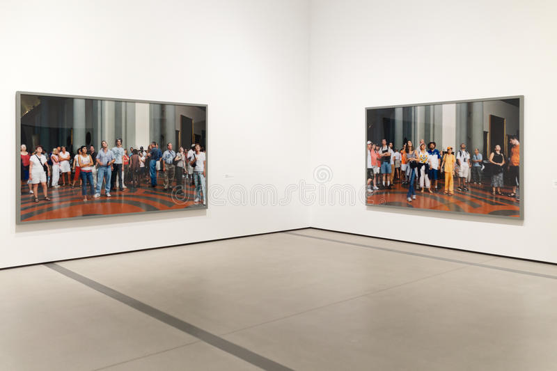 Interior Artwork of The Broad Contemporary Art Museum royalty free stock images