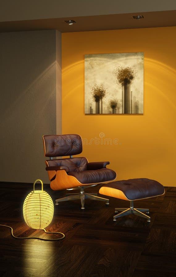 Interior asiático do estilo ilustração stock
