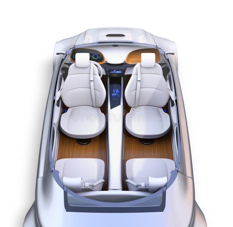 Interior autónomo cortado del ` s del coche libre illustration