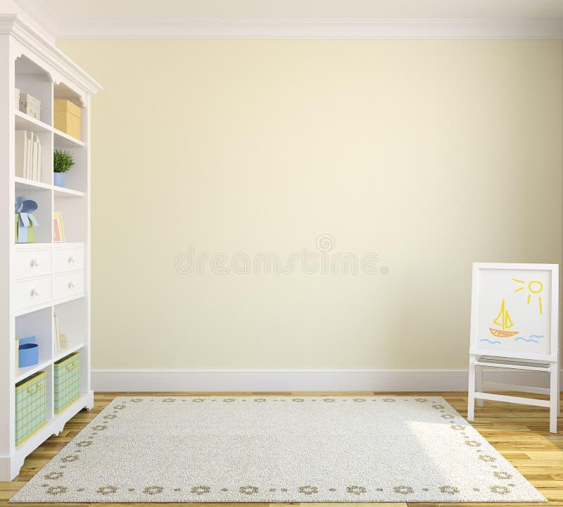 Interior av playroomen. vektor illustrationer