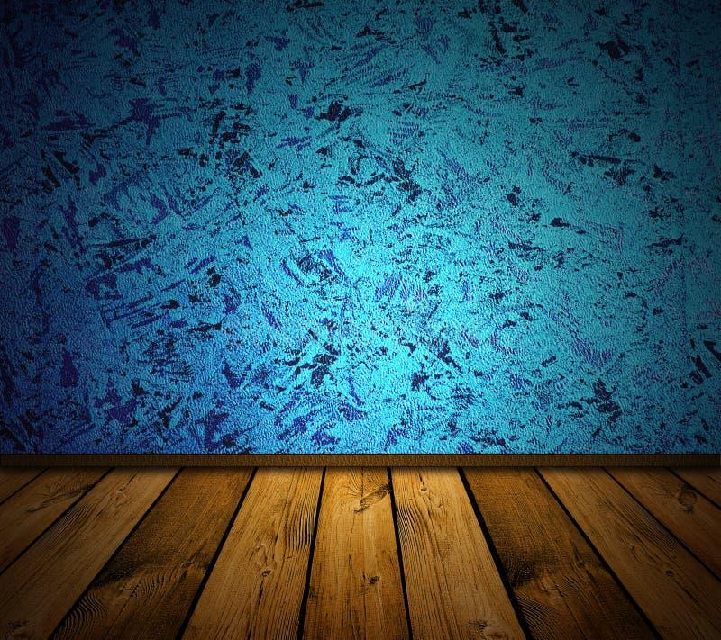 Interior azul do vintage imagem de stock