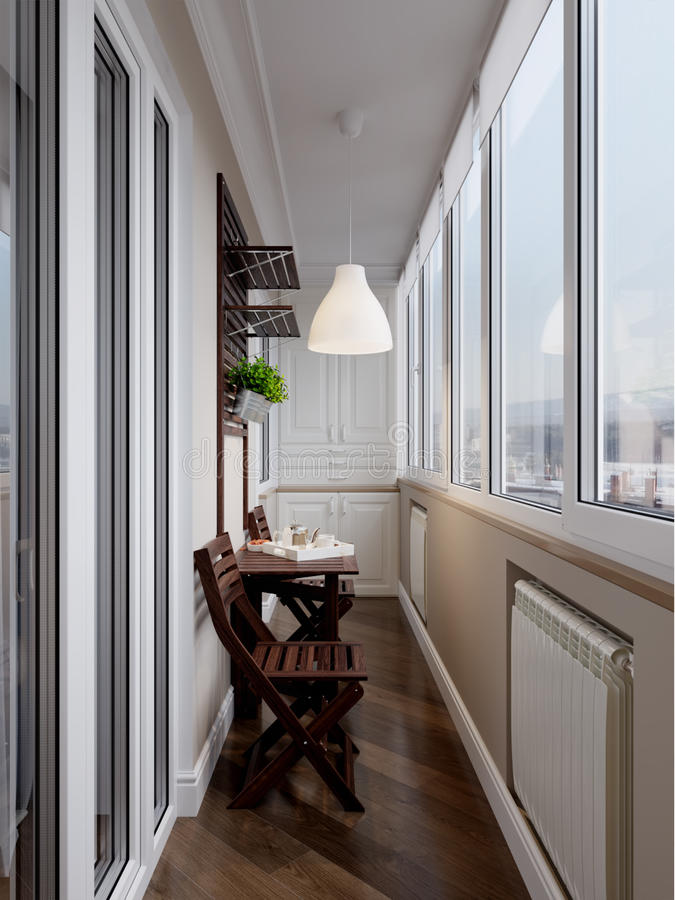 Interior of balcony royalty free stock images
