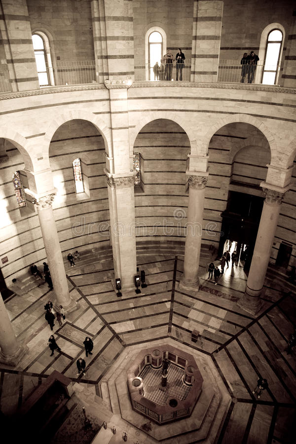 Interior Baptistry, Pisa royalty free stock photos