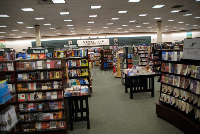 The interior of a bookstore in Annapolis,Maryland stock photo
