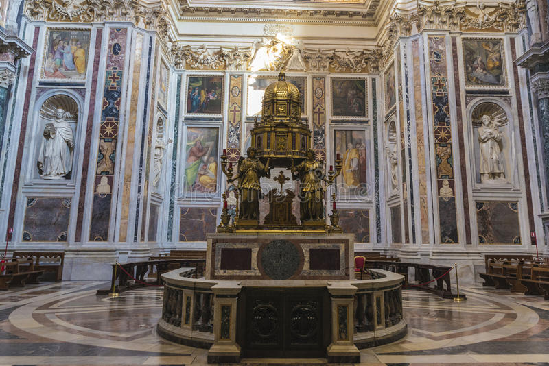 Interior of the Basilica di Santa Maria Maggiore in Rome, Italy. royalty free stock photos