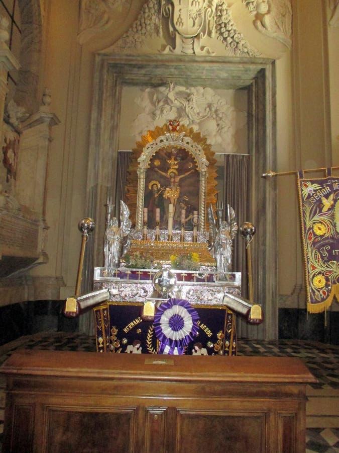 Interior Basilica San Juan de Letrán Roma Italy Europe. Basilica San Juan de Letrán is the oldest church in the world. Roma ItalynSan Juan de Letr royalty free stock photography