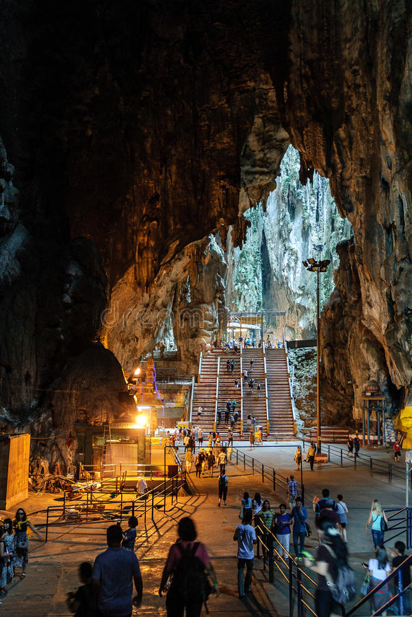 Interior of the Batu caves in kuala lumpur, Malaysia royalty free stock photo