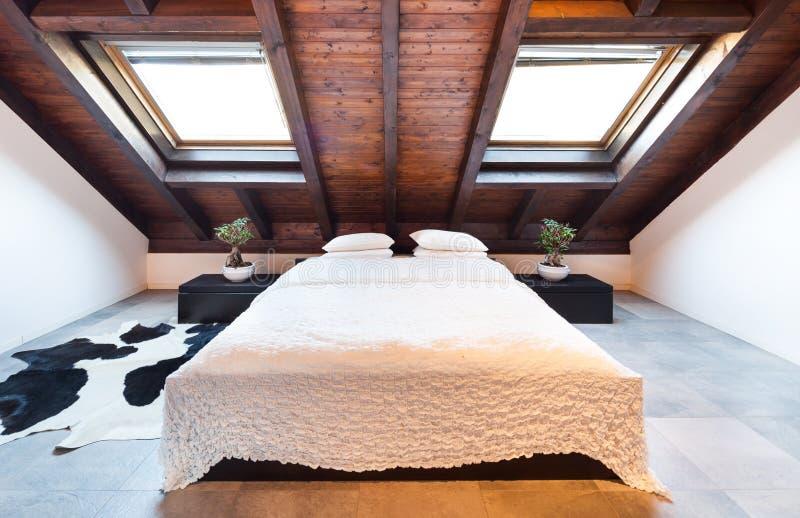 Interior, beautiful loft royalty free stock photography