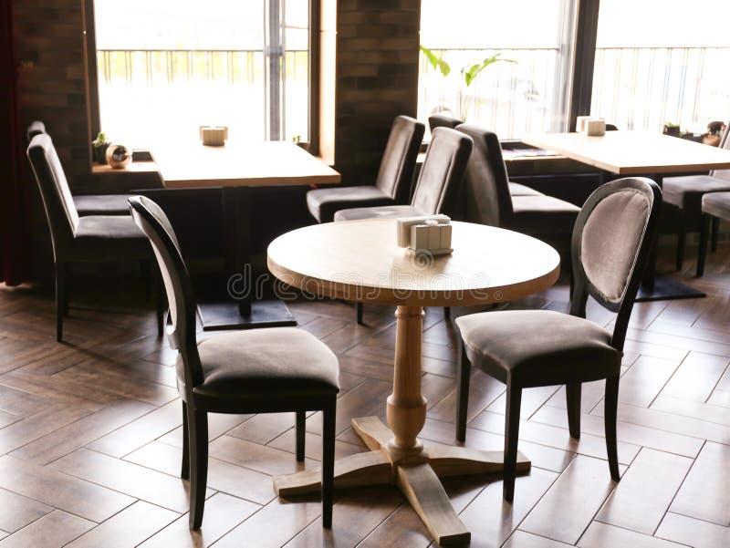 Interior of beautiful modern restaurant stock image