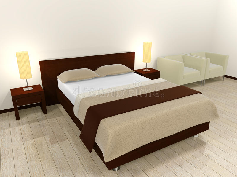 Interior (Bed) royalty free stock image
