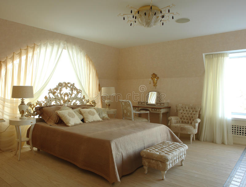 Interior Of A Bedroom Stock Photo