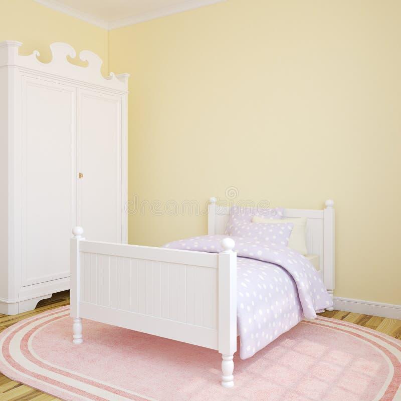 Interior of bedroom. royalty free illustration
