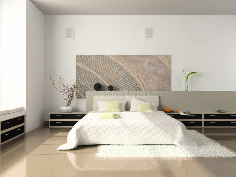 Interior Of The Bedroom Royalty Free Stock Photos