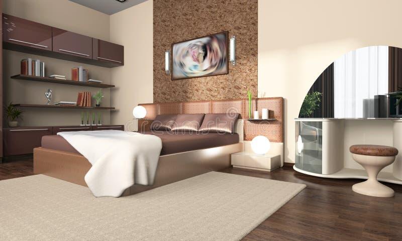 Download Interior of a bedroom stock illustration. Illustration of illumination - 6588356