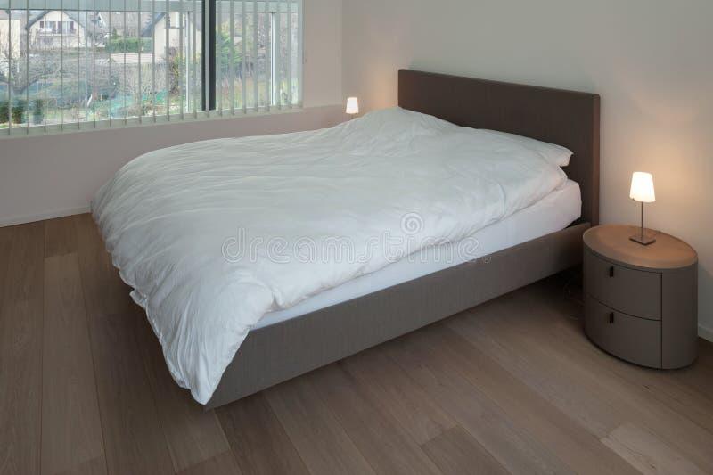 Parquet Floor In Bedroom Stock Image Image Of Awake