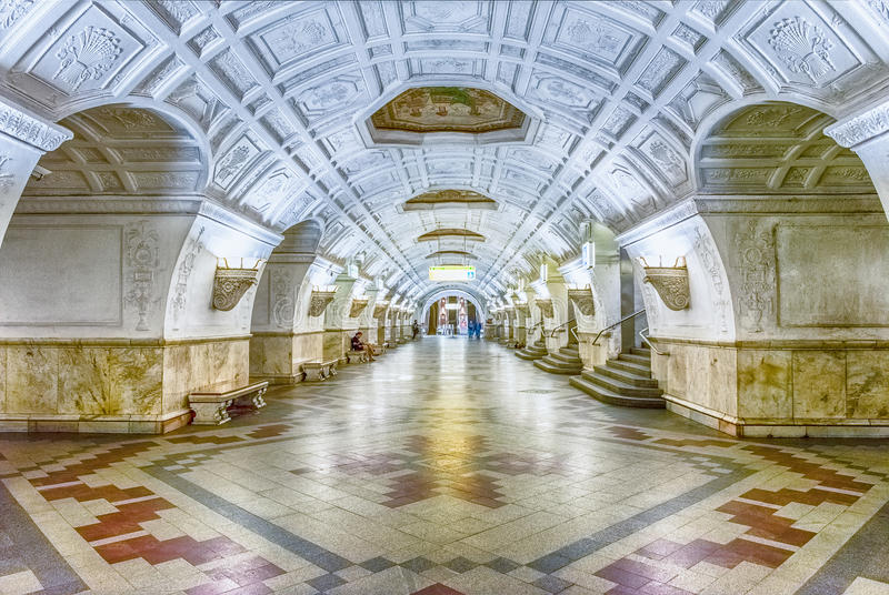 interior of belorusskaya subway station in moscow russia stock photo image of architecture. Black Bedroom Furniture Sets. Home Design Ideas