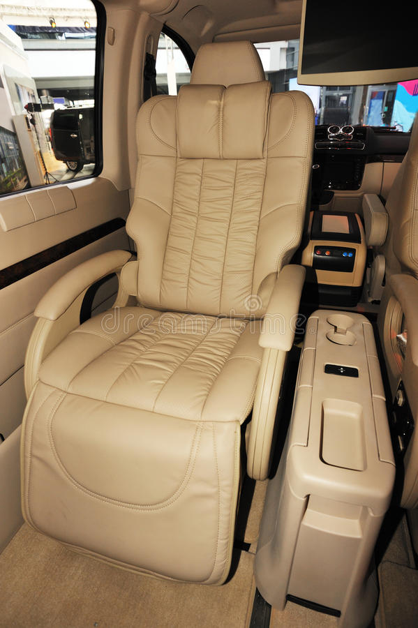 Interior of benz limo royalty free stock photo