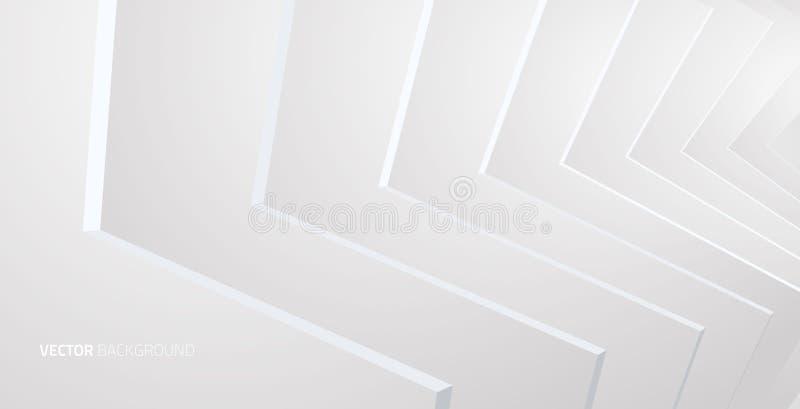 Interior blanco con las paredes ilustración del vector