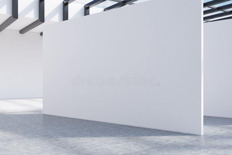 Interior blanco de la pared libre illustration